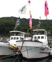 岩崎さんの漁船