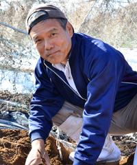 那須さんの圃場の土