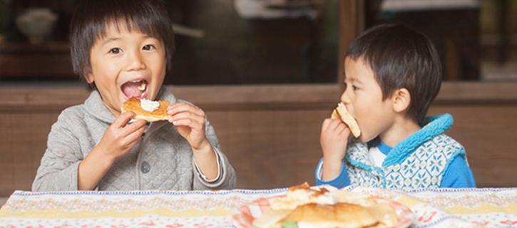 子供も大好きパンケーキの写真