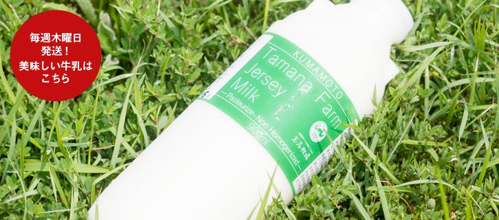 玉名牧場の美味しい牛乳