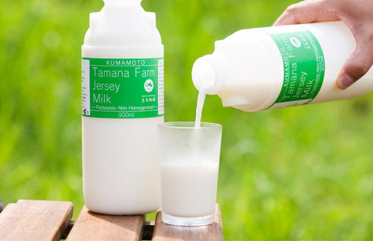 玉名牧場のジャージー牛乳900ml 【冷蔵便のみ】