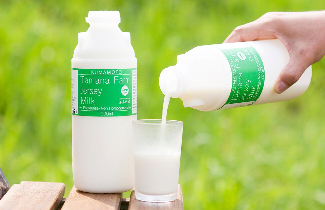大草原ににあるジャージーミルク