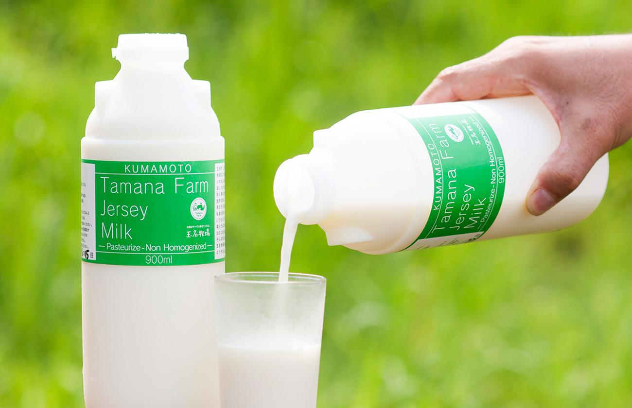 玉名牧場のジャージー牛乳
