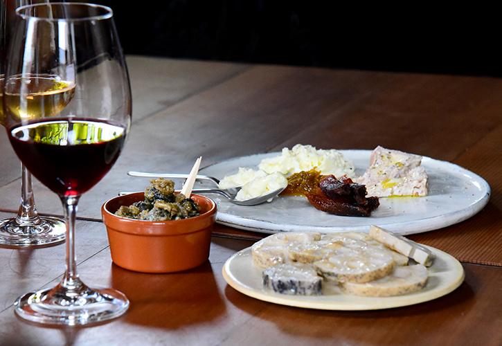 アラカルトとワイン