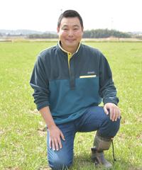 今度広げる圃場で田中さん