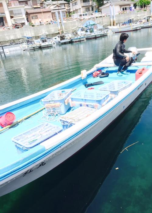 素潜り漁に出発